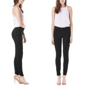 Anthropologie Level 99 Black Mid Rise Skinny Jeans